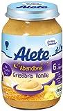 Alete Abendbrei Grießbrei Vanille, 6er Pack (6 x 190 g)