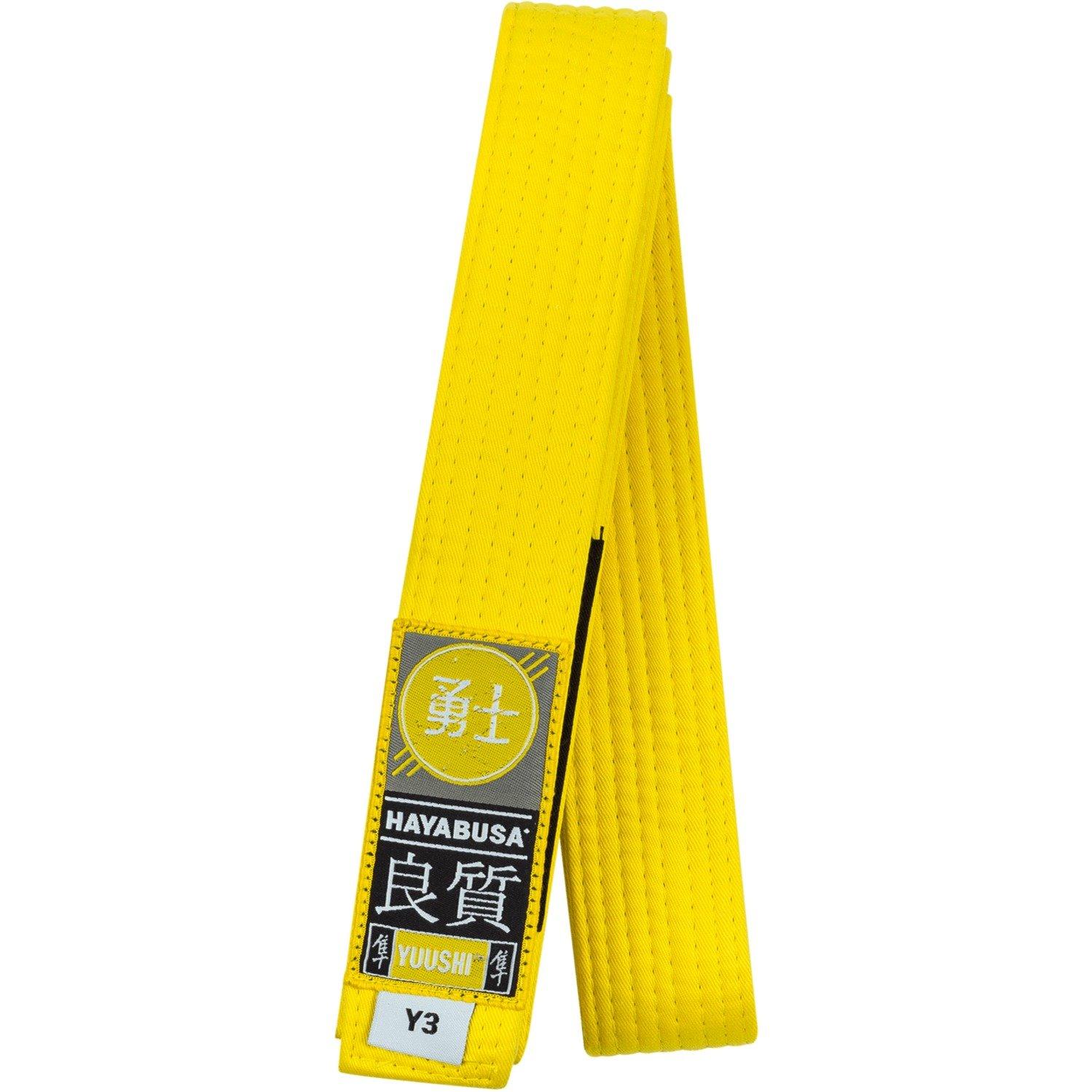 Hayabusa Cotton Youth Jiu Jitsu Belt, Yellow, Y3 by Hayabusa