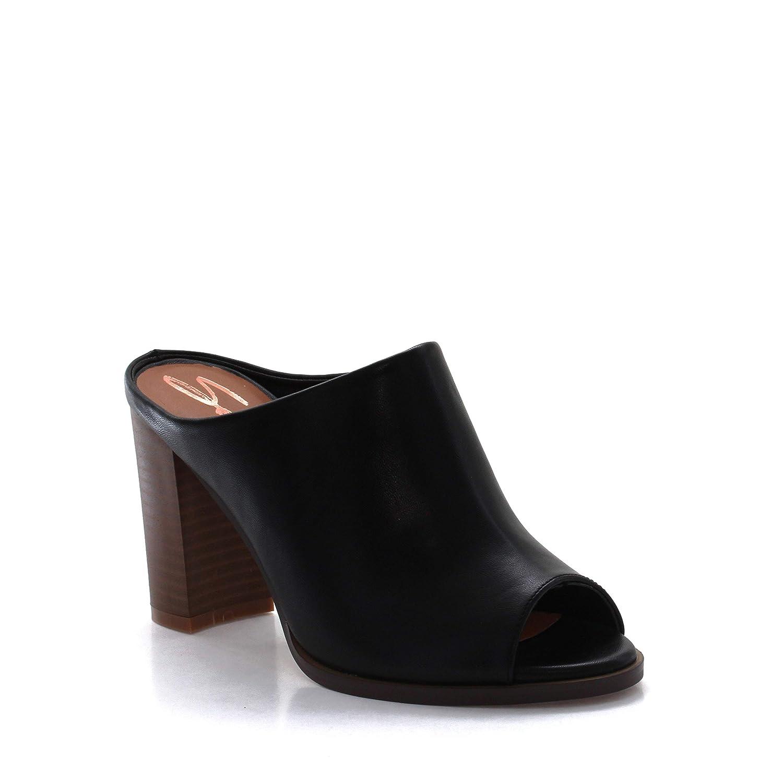 Seven7 Womens Mexx Mule High-Heel Peep Toe Dress Sandal