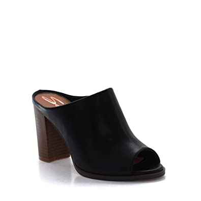 1804245fdb Amazon.com | Seven7 Women's Mexx Mule High-Heel Peep Toe Dress ...
