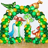 WINKO Dinosaur Balloons Garland Kit-116pack Dinosaur Balloons Party Decoration for Jungle Theme Jurassic World Animal…