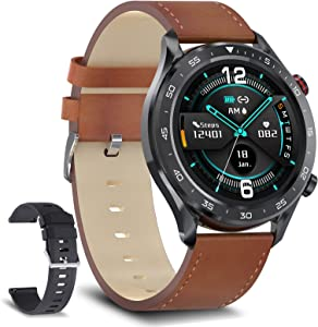 Smart Watch for Men Make and Receive Calls Activity Fitness Tracker Music Player Blood Pressure Business Smartwatch Heart Rate Sleep Monitor IP68 Waterproof for Android Phones Compatible iOS iPhone
