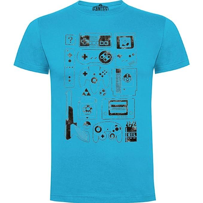 The Fan Tee Camiseta de Hombre Nintendo Gamer SNES NES Mario hhAKuKh