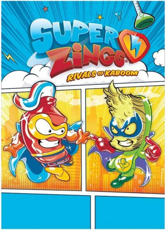 Rivals of Kaboom Manta Superzings Manta Polar Infantil Superthings Secret Spies Niño, 100x140cm, Color Azul (Superzings)