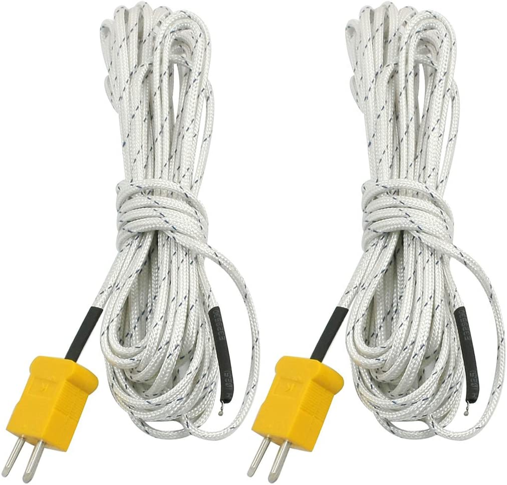 sourcingmap 2pcs K Type 0-400C Thermocouple Sonde Senseur 5 M/ètre for Thermom/ètre