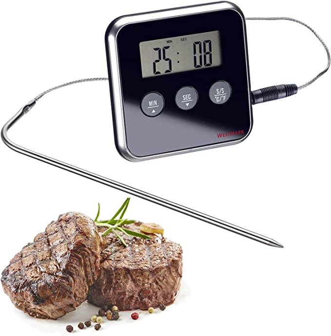 Digital Thermometer mit Edelstahl-Messsonde inkl Messspitzenschutz WT-1