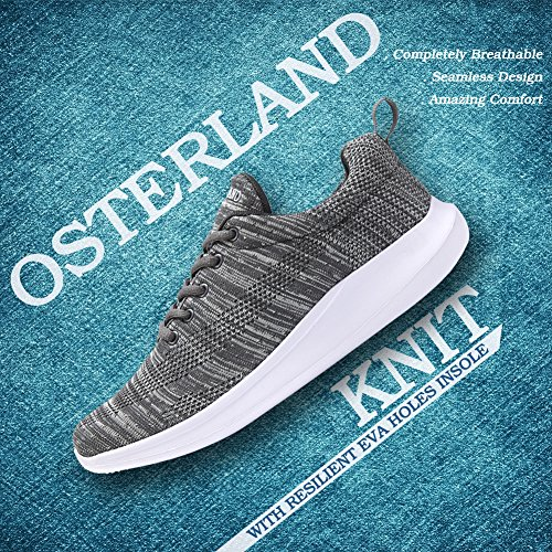 Osterland Herre Dame Løbesko Walking Sneakers Grå sO5ZIa