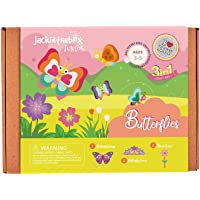jackinthebox Butterflies Craft kit for 3 to 5 Year olds   3 Craft Projects   Great Gift for Girls Ages 3,4,5 Years