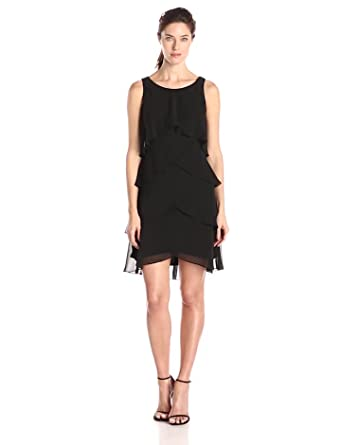 ca5ce0e6ea0 S.L. Fashions Women s Jewel-Strap Tiered Cocktail Dress (Petite and  Regular)
