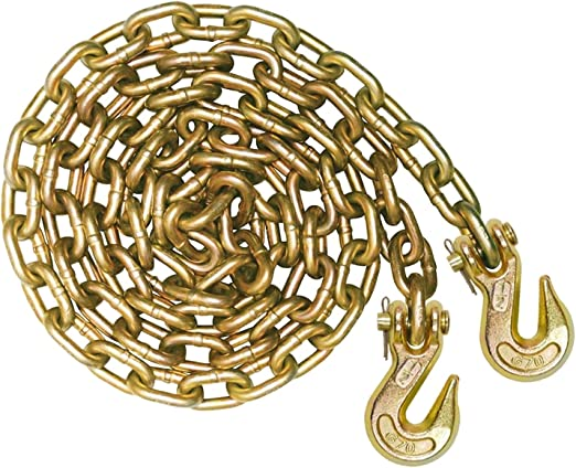 Transport Binder Chains with Grab Hooks 2 3//8 x 20 Grade 70