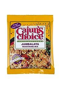 Jambalaya Seasoning Mix 0.42 oz Cajun's Choice Louisiana Foods (Pack of 12)