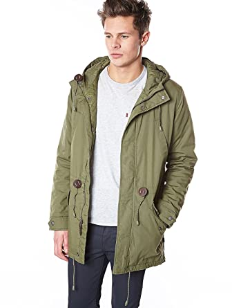 Parka Long Fishtail Parka Burnt Olive Levi's XL Men: Amazon.co.uk ...