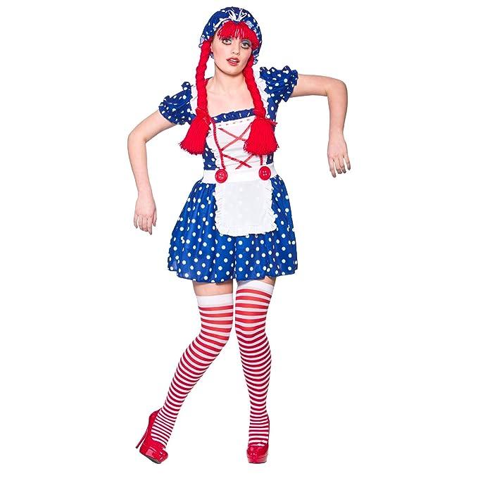 Disfraz para mujer, drisfraz  de muñeca de trapo