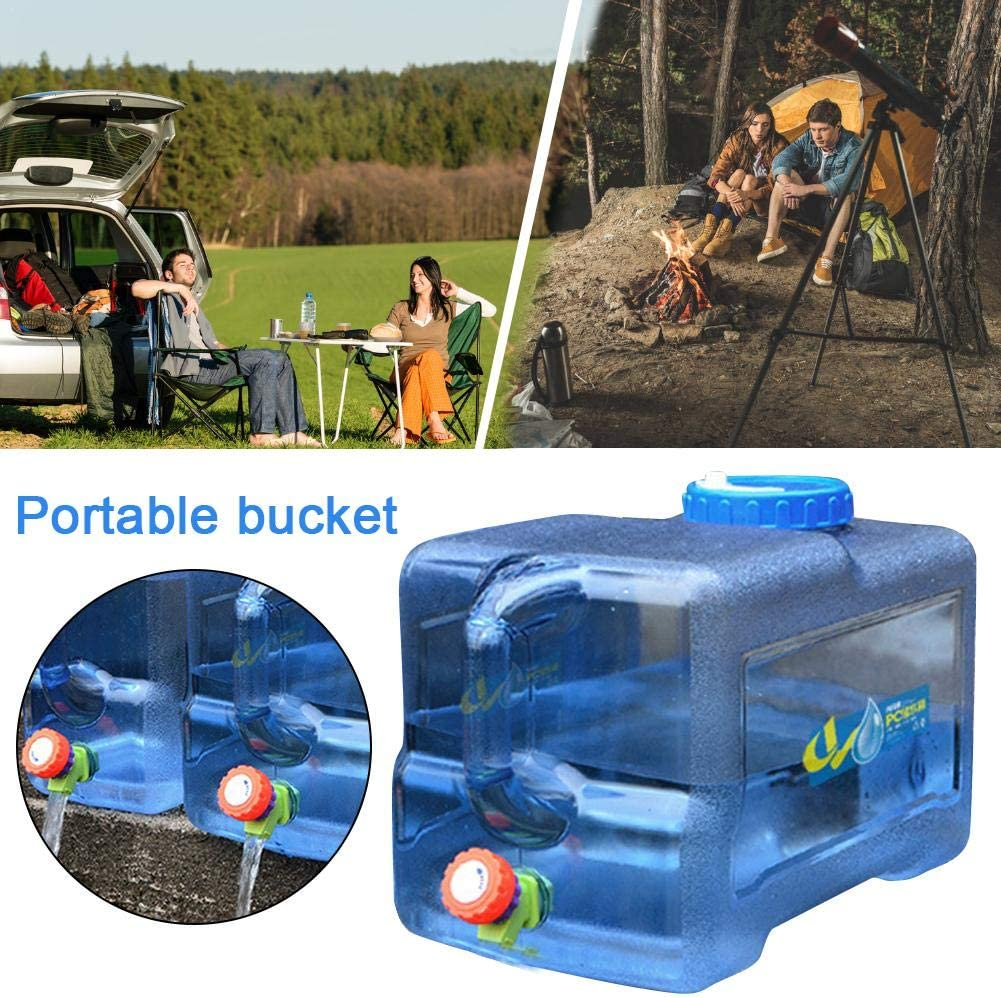 Reservoir Deau Potable Portatifs Parfait pour Camping Car Voyage Voiture Maison /Épaississement PC rebirthesame Camping Jerrican Alimentaire avec Robinet 22L