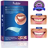 Foshine Teeth Whitening Strips, 3D Professional Whitestrips No Sensitivity-Enamel Safe-Zero Peroxide Teeth Bleaching Treatment for Crystal Smile Mint Flavor 14Day Treatment