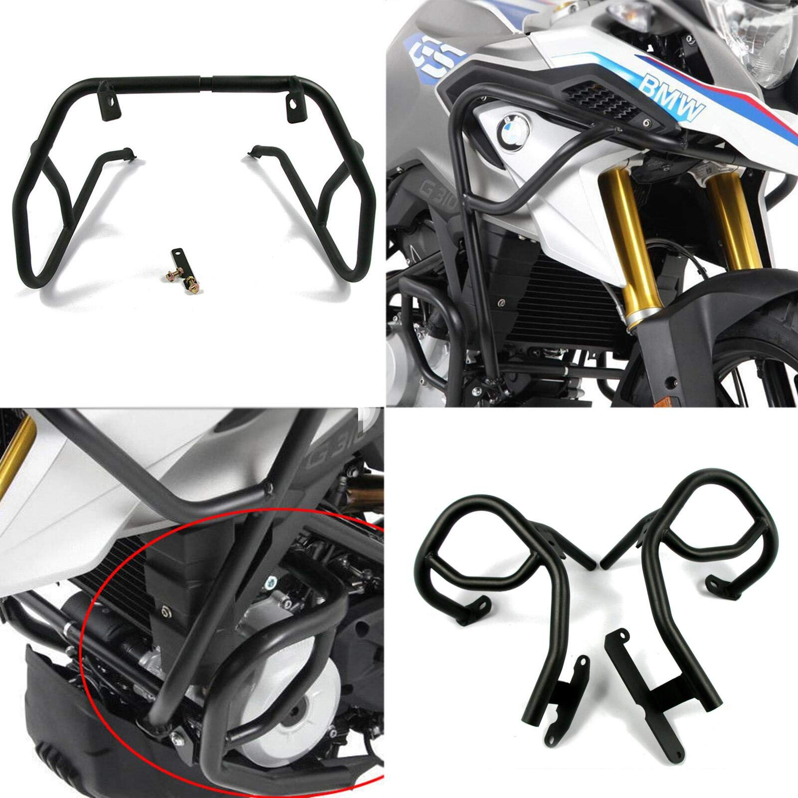 Engine Guard Crash Bar Tank Guard Protector For BMW G310GS (Upper+Lower)