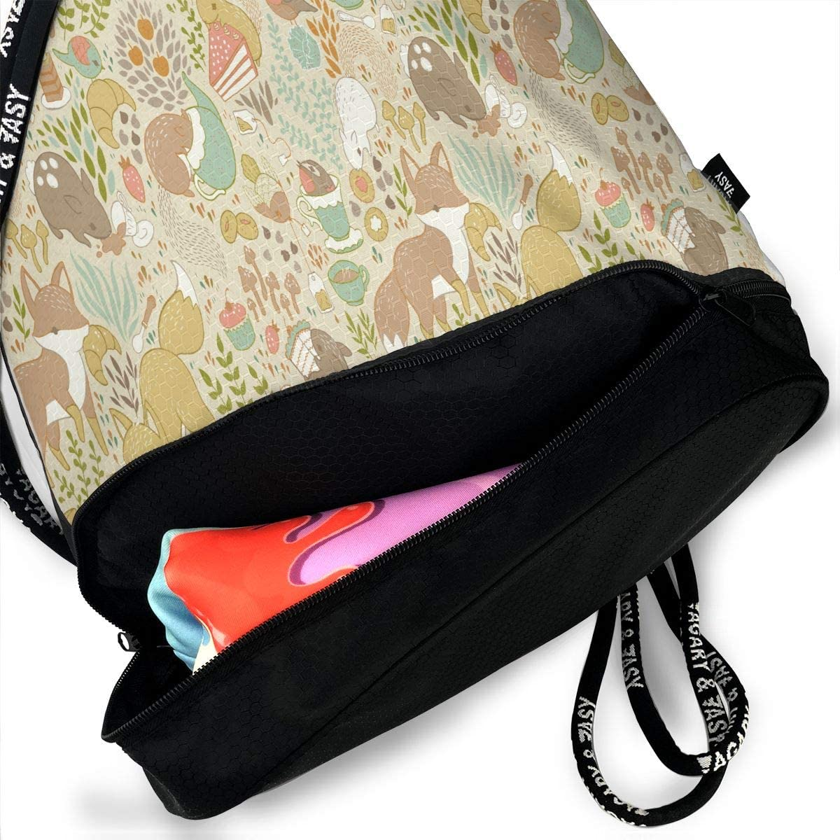 Drawstring Backpack Befuddled Possums Gym Bag