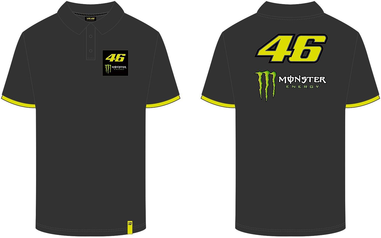 VR46 Polo Hombre Valentino Rossi 46 Monster TG. XL: Amazon.es ...