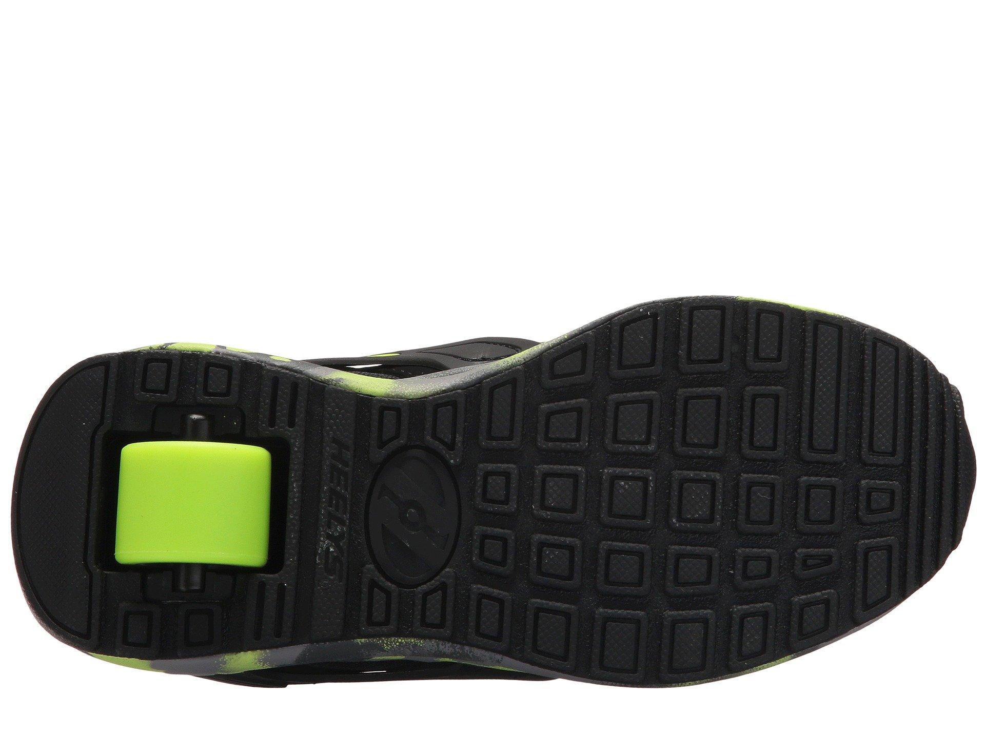 Heelys HE100095H Kid's Force Sneakers, Black/Brightyellow/Confet - 8 by Heelys (Image #4)