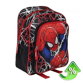 Mochila Spiderman Marvel Spiderweb doble bolsillo: Amazon.es: Juguetes y juegos