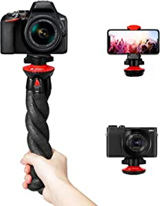 SolUptanisu Camera Tripod,4 Sections Tripod Aluminium Magnesium Alloy Black Portable DV Photography Live Outdoor Travel Tripod Kit for DSLR Camera