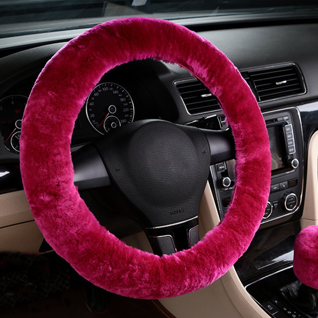 Plush Wool Stretch-On Universal Vehicle Steering Wheel Cover MioCloth