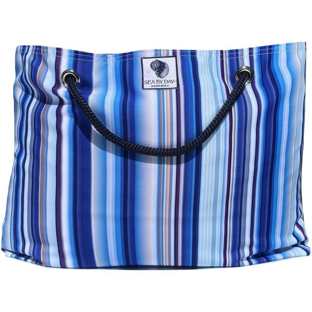 Classic Beach Bag, Pool Bag or Travel Tote- California Style Water Resistant (True Blue)