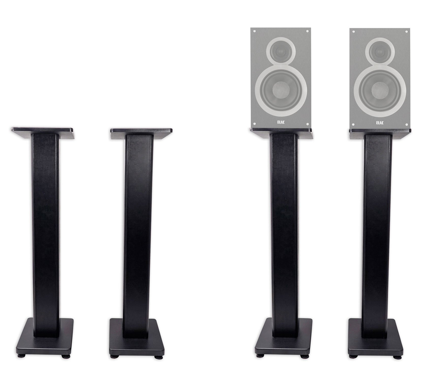 Pair 36'' Bookshelf Speaker Stands For ELAC B6 Bookshelf Speakers