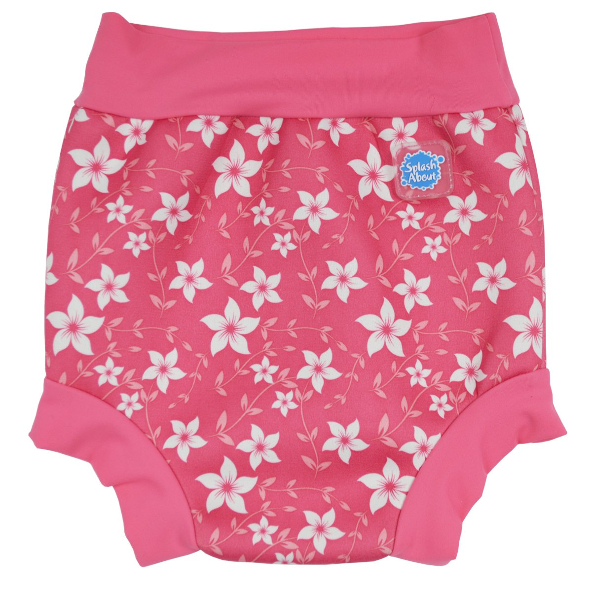 Splash About Baby Neoprene Swim Diaper - Reusable Swim (Medium 3-8 Months, Apple Daisy) HNADM
