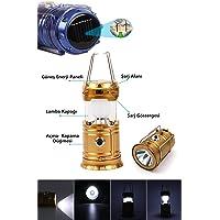 Buffer A16XYT4015 Güneş Enerjili Kızaklı Kamp Feneri, Sarj Edilebilir Orta Boy