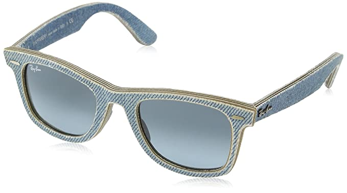 084ec75c55 Amazon.com  Ray-Ban Unisex RB2140 50mm Denim Light Blue  Ray-Ban ...
