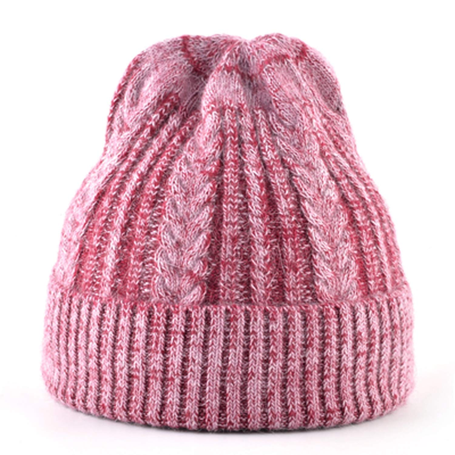 XINBONG Autumn Winter Women Knitted Hats Ladies Mixed Color Knit Twist Pattern Female Warm Caps Girls Bonnet