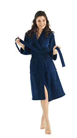 a6a26d88ab Bagno Milano Women s Robe – Non-GMO Turkish Cotton Interior – Soft Touch  Fleece Exterior