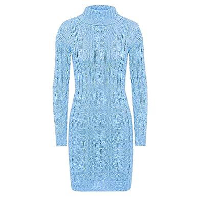 e70d6257ebb VR7 pour Femmes Col Polo Manches Longues Câble Robe Pull Tricot Haut Grande  Taille UK 8-22  Amazon.fr  Vêtements et accessoires