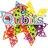 STEM Educational Toy Building Set: 42 Piece Qubits Set | Educational and Creative Alternative to Standard Building Blocks | Teaches Spatial Thinking | Imagination Builder | Made in the USA