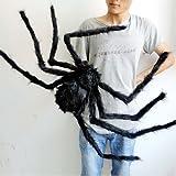Yantu Spider Halloween Decoration Haunted House Prop Indoor Outdoor (120cm, black)