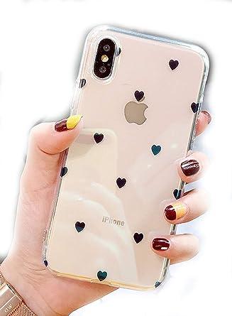 Amazon.com: Carcasa de estilo coreano para iPhone X/8 ...
