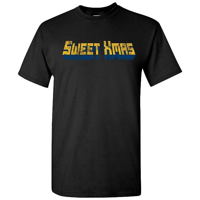 e332bf387 UGP Campus Apparel Sweet Xmas - Funny Harlem Superhero TV Show Quote T Shirt  - Small