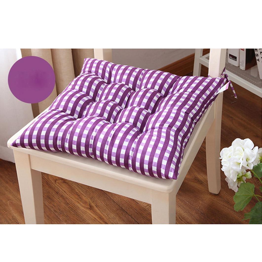 40x40cm, Violet Coussin de Chaise Super Moelleux Lot de 1 Galettes de chaise matelass/ée unie Yogogo