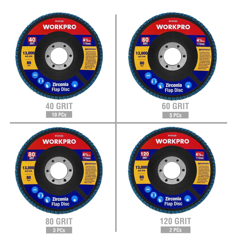20 Piezas Zirconia al/úmina abrasivos /Ø125mm Disco de L/áminas 5 Piezas por Cada Grano 40//60//80//120 LotFancy Disco Abrasivo Profesionales