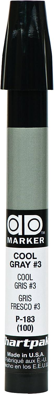 The Original Chartpak AD Marker, Tri-Nib, Cool Gray 3, 1 Each (P183)