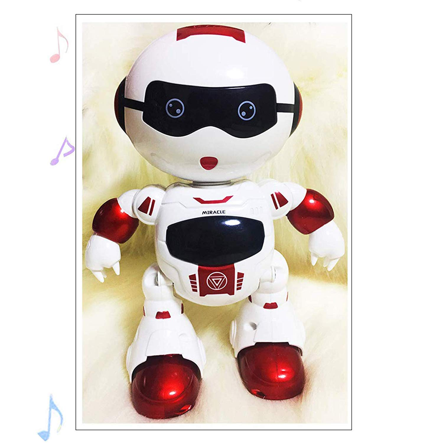LKKLILY Remote Control Robot with Touch Interaction Music Dance and Lights Remote Toy for Children Kids and Kids Gifts (Red) by LKKLILY (Image #2)