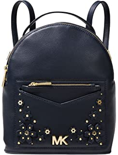 MICHAEL Michael Kors Jessa Small Floral Embellished Pebbled Leather  Convertible Backpack 44f12b9c1a794