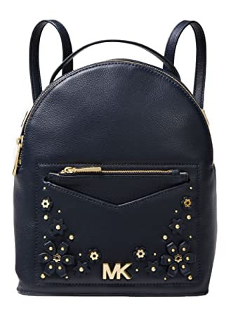 a787aa7fccb6f5 Amazon.com | MICHAEL Michael Kors Jessa Small Floral Embellished Pebbled  Leather Convertible Backpack (Admiral) | Casual Daypacks