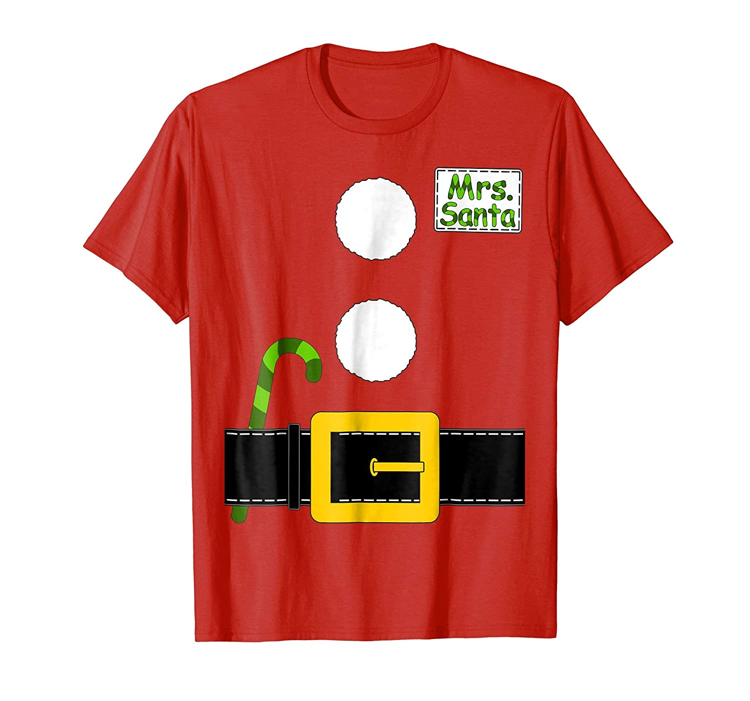 Mrs Santa Claus T-shirt Matching Christmas Costume Couple Mr. And Mrs. Santa Claus Costumes Set .