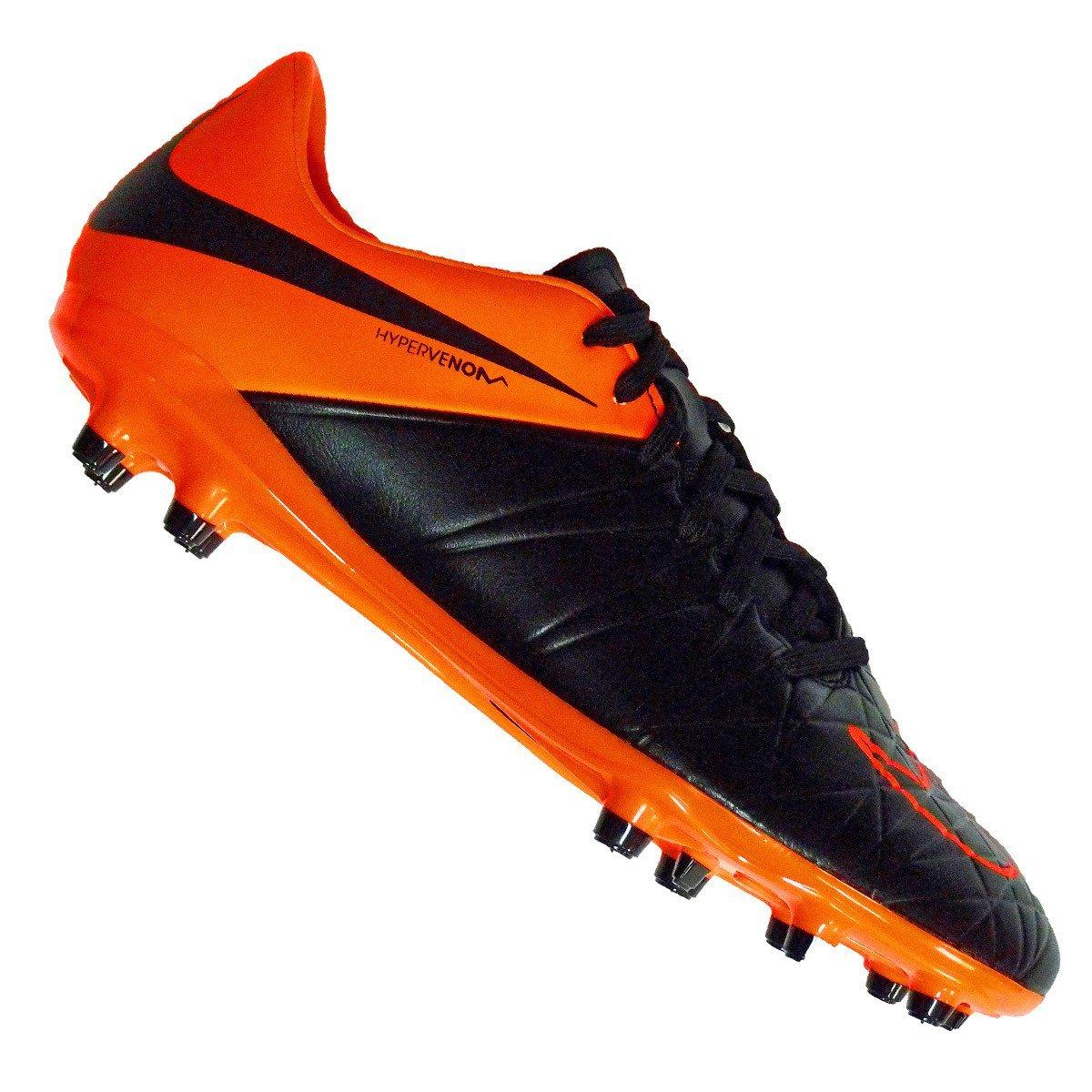 Noir Orange 36.5 EU Hypervenom II Phelon TC FG Junior