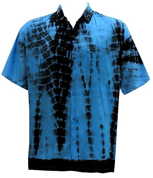 *La Leela* Likre Juego Hawaiano Camiseta y Vestidos para Hombre 70s 80s 90s Camisa Hawaiana de los Hombres Retro Vintage de la Isla XS Azul: Amazon.es: Ropa ...