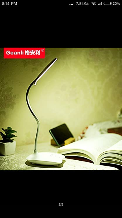 ITEN Touch Control Table Lamp with 14 LEDs and 3 Brightness Levels (Plastic, White)