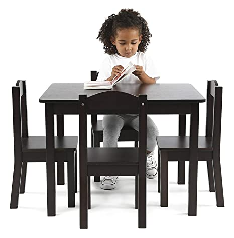 Amazing Amazon Com Nova Natural Kids Wooden Table And Chair Set For Theyellowbook Wood Chair Design Ideas Theyellowbookinfo