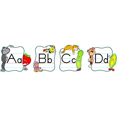 Carson Dellosa Alphabet: Traditional Manuscript Bulletin Board Set (110037): Carson-Dellosa Publishing: Office Products [5Bkhe0301218]
